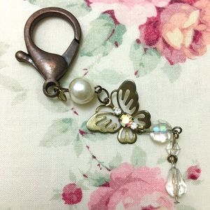 Delicate butterfly keychain jumbo clip for purse